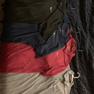 Lot of 4 Nike DryFit Polos